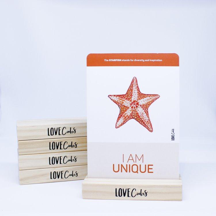 Wooden Affirmation Card Stand | Mindful Little Minds