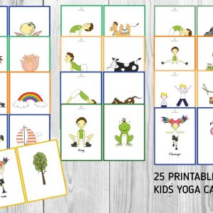 Kids printable yoga cards | Mindful Little Minds