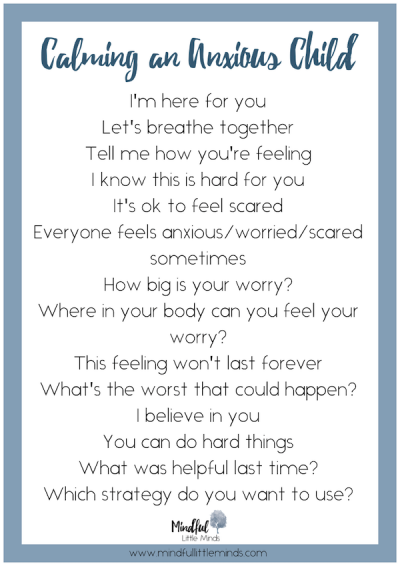 Calming an anxious child | Mindful Little Minds
