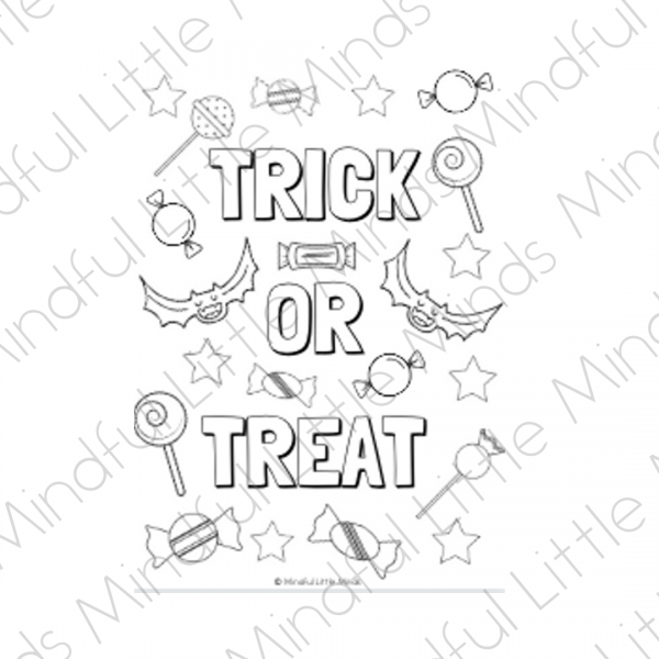 Halloween Colouring | Mindful Little Minds